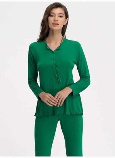 Ayyıldız Pijama Takım Yeşil